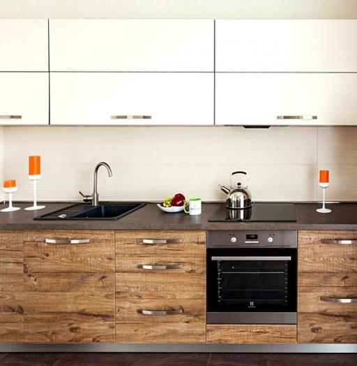 Акриловые кухни-Кухня из ЛДСП «Модель 417»-фото3