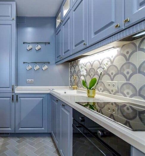 -Кухня МДФ в эмали «Модель 420»-фото5