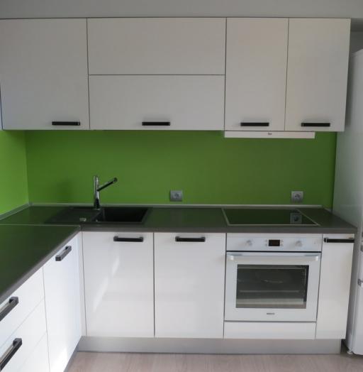 Белый кухонный гарнитур-Кухня из пластика «Модель 448»-фото2