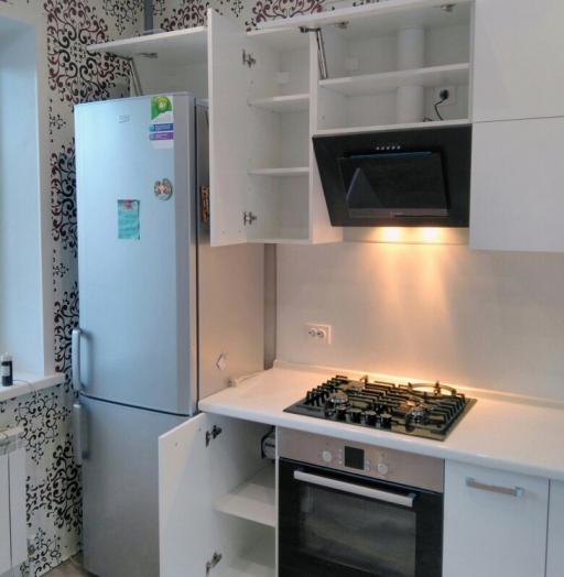 Белый кухонный гарнитур-Кухня из пластика «Модель 468»-фото6