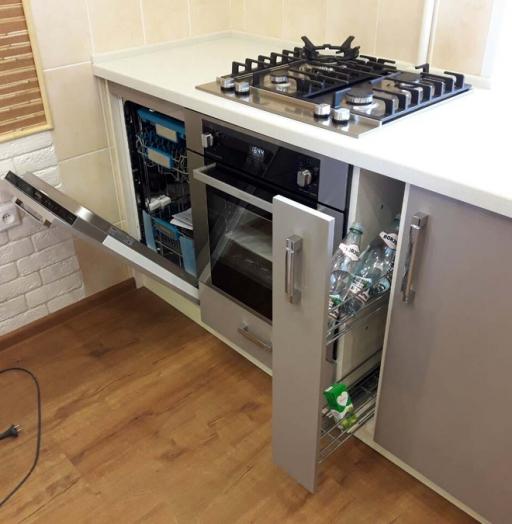 Белый кухонный гарнитур-Кухня «Модель 481»-фото9
