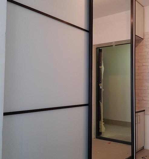 Бельевой шкаф-купе-Шкаф-купе с зеркалом «Модель 335»-фото4