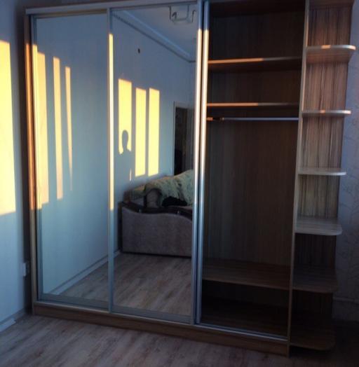 Бельевой шкаф-купе-Шкаф-купе с зеркалом «Модель 448»-фото4