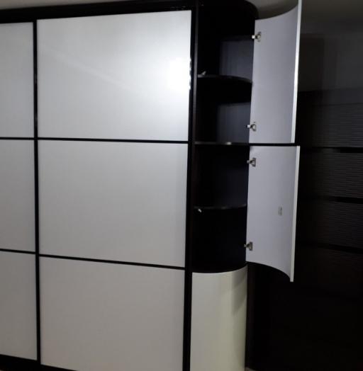 Бельевой шкаф-купе-Шкаф-купе из пластика «Модель 489»-фото3