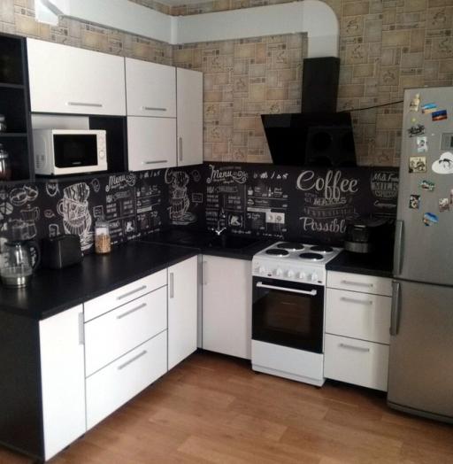 Белый кухонный гарнитур-Кухня из ДСП «Модель 325»-фото3
