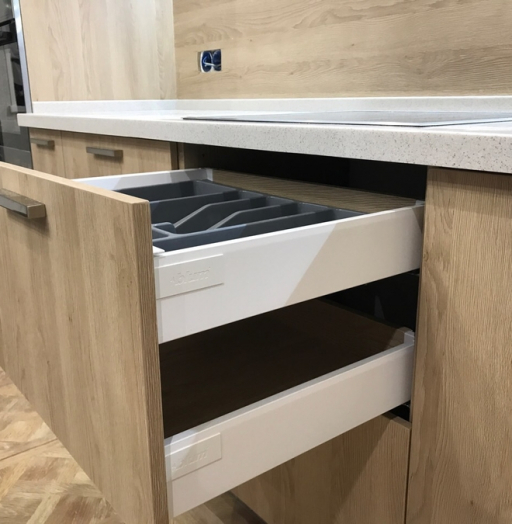 Белый кухонный гарнитур-Кухня МДФ в ПВХ «Модель 67»-фото8