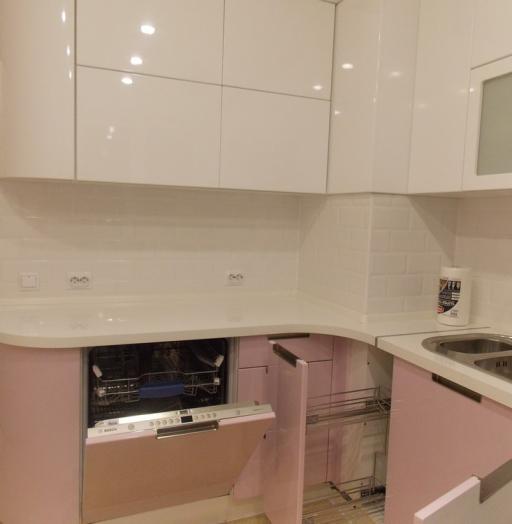 Белый кухонный гарнитур-Кухня МДФ в ПВХ «Модель 193»-фото10