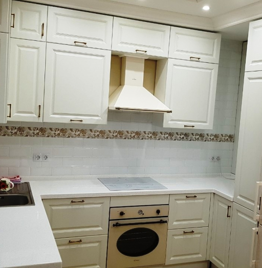 Белый кухонный гарнитур-Кухня МДФ в ПВХ «Модель 531»-фото10