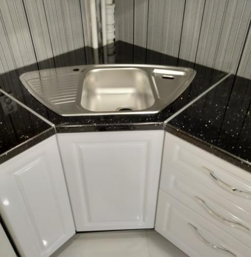 Белый кухонный гарнитур-Кухня МДФ в ПВХ «Модель 533»-фото8