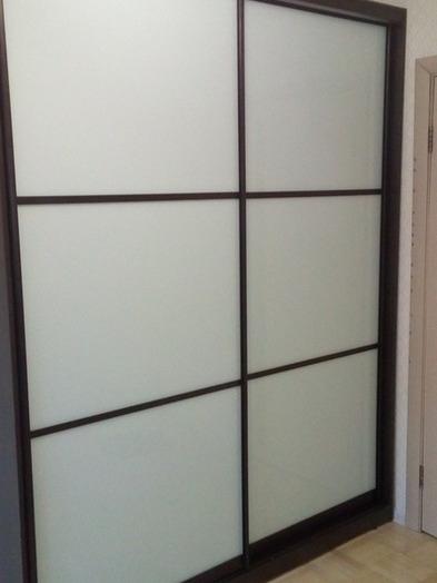 Белые шкафы-купе-Шкаф-купе из стекла Лакобель «Модель 40»-фото3