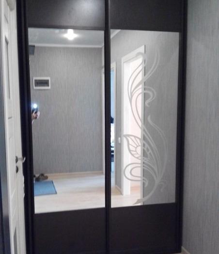 Встроенные шкафы-купе-Шкаф-купе с зеркалом «Модель 49»-фото3