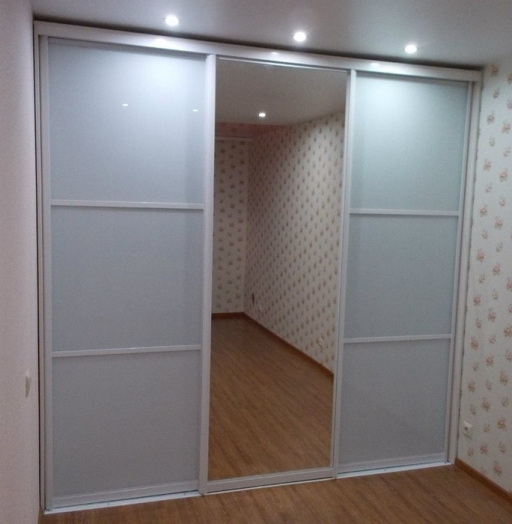 Белые шкафы-купе-Шкаф-купе с зеркалом «Модель 91»-фото3