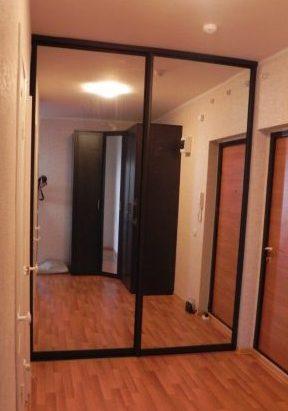 Встроенные шкафы-купе-Шкаф-купе с зеркалом «Модель 123»-фото2