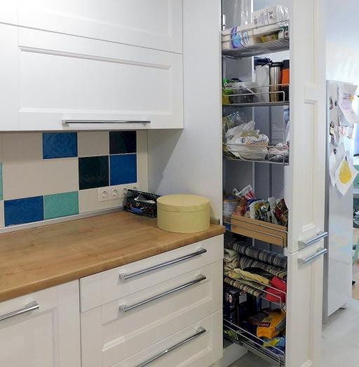 Белый кухонный гарнитур-Кухня МДФ в эмали «Модель 591»-фото9