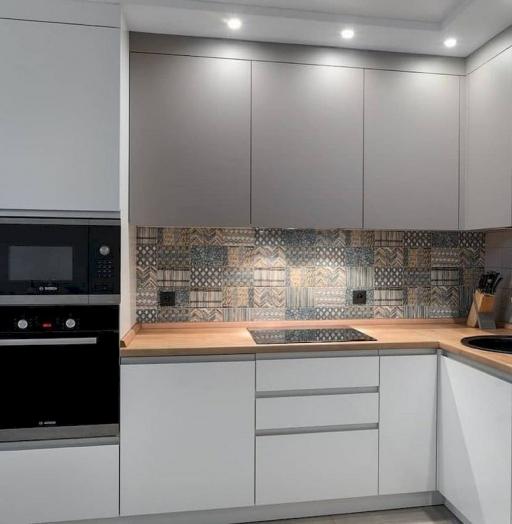 Белый кухонный гарнитур-Кухня МДФ в эмали «Модель 637»-фото5